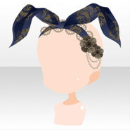 (Head Accessories) Soin Rabbit Ear Lace Headband ver.A black