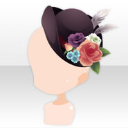 (Head Accessories) Talented Flower Hat ver.A black