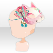 (Head Accessories) Cute Child Spirit Cat Mask ver.A pink