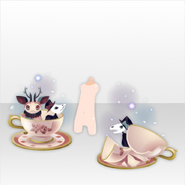 (Avatar Decor) Hollow Park Skeleton and Broken Coffee Cup ver.A red