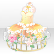 (Tops) Birdcage Dress with Flowers ver.A yellow