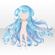 (Hairstyle) CocoPPa Dolls Princess Amar Hair ver.A pale blue