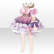 (Tops) Dream Cloud Crown Neck Mini Dress ver.A pink