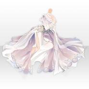 (Tops) Floracion Princess Chiffon Dress ver.A white