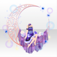 (Tops) Night Dress Party Sitting on Moon ver.A purple