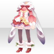(Tops) Snow Drop Butterfly Style ver.A pink