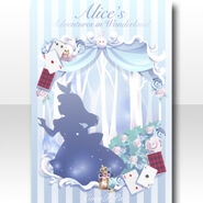 (Wallpaper Profile) Alice in Picture Book Wallpaper ver.A pale blue