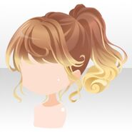 (Hairstyle) Twirling Shabon Ponytail ver.A brown