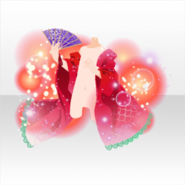 (Outerwear) Blooming Flowers Glittering Bubbles ver.A red