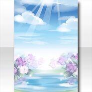 (Wallpaper Profile) Blue Sunny Sky After Rain Wallpaper ver.A blue