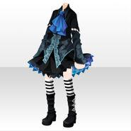 (Tops) Glass Shower Fairy Dress ver.A black