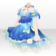 (Tops) Ribbon Bubble Mini Dress ver.A blue