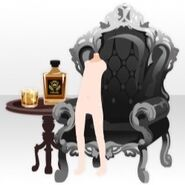 (Back Accessories) Undercore Wing Chair and Whisky ver. Ablack