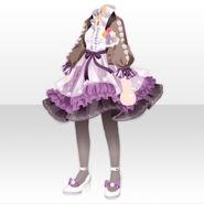 (Tops) Fontana Flower Chiffon Dress ver.A purple