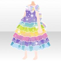 (Tops) Rainbow Gradation Dress ver.A purple
