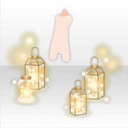 (Avatar Decor) Lantern with Fairy Light ver.A yellow