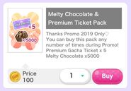 (Pack) Ticket - Melty Chocolate & Premium Ticket Pack