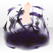 (Avatar Decor) Fallen Feather Demon's Hands Object ver.A black