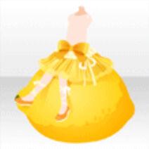 (Pant&Skirt) Sitting on Lemon Ribbon Skirt ver.A yellow