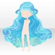 (Hairstyle) CocoPPa Dolls Colorful Rocket Hair ver.A pale blue