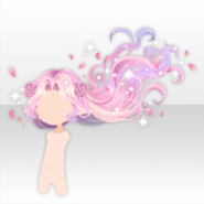 (Hairstyle) Fairy Quartz Flower Wavy Long Hair ver.A pink