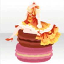 (Tops) Sitting on Macaron Frill Long Dress Style ver.A red