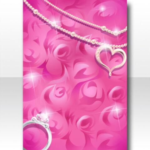 FileWallpaper Profile Rose Fur And Brilliant Accessories Wallpaper VerA Pink