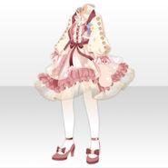 (Tops) Fontana Flower Chiffon Dress ver.A pink