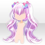 (Hairstyle) DayDream Rabbit-ear Twin Tails Hair ver.a purple