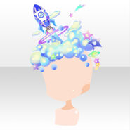 (Head Accessories) CocoPPa Dolls Colorful Rocket Hat ver.A blue