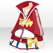 (Tops) Cosmic Cheer Leader Set ver.B red