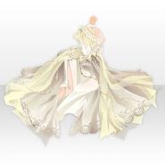 (Tops) Floracion Princess Chiffon Dress ver.A yellow