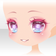 (Face) Harvest Crescent Moon Shiny Smile Face ver.A pink