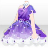 (Tops) Princess Amethyst Fluffy Dress ver.A purple