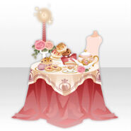 (Avatar Decor) Lovely Sweets & Tea Party Table ver.A pink