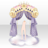(Back Accessories) Dream World Cloud Curtain ver.A purple