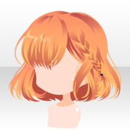 (Hairstyle) Phantom Side Braided Bob Hair ver.A orange