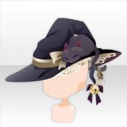 (Head Accessories) Halloween Witch Wide Brim Hat ver.A black