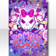 (Wallpaper Profile) Glittery Zombie Wall Art Wallpaper ver.A purple