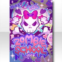 (Wallpaper Profile) Glittery Zombie Wall Art Wallpaper ver.A purple
