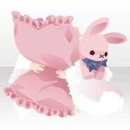 (Hand Accessories) Bunny Doll and Pillow ver.A pink