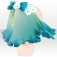 (Head Accessories) Ghost Night Veil Headdress ver.A green