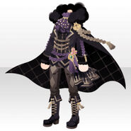 (Tops) Gatekeeper Cape Style ver.A black