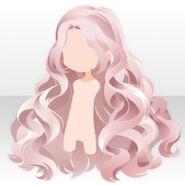 (Hairstyle) Perfume Wavy Long Hair ver.A pink
