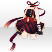 (Tops) Acrobat Girl One-Piece ver.A red
