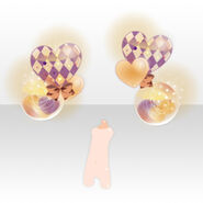 (Back Accessories) Dearest Heart Balloon ver.A purple
