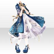 (Tops) Night Phantom Mademoiselle Frill Dress ver.A blue