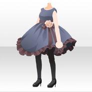 (Tops) Royal Girl Girl Rose Mini Dress ver.A blue