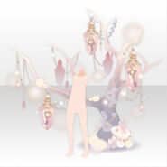 (Back Accessories) Schlussel Crystal Key Tree ver.A pink