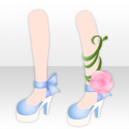 (Shoes) Rose on Ribbon Pumps ver.A blue